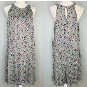 Mossimo Romper XXL Green Pink Floral Sleeveless